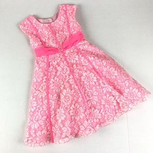 Lace Spring Easter Dress Full Lined Size 5